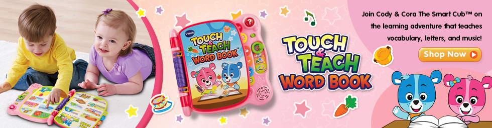 Touch & Teach Word Book - Pink