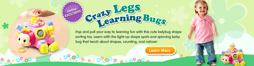 Crazy Legs Learning Bugs Pink
