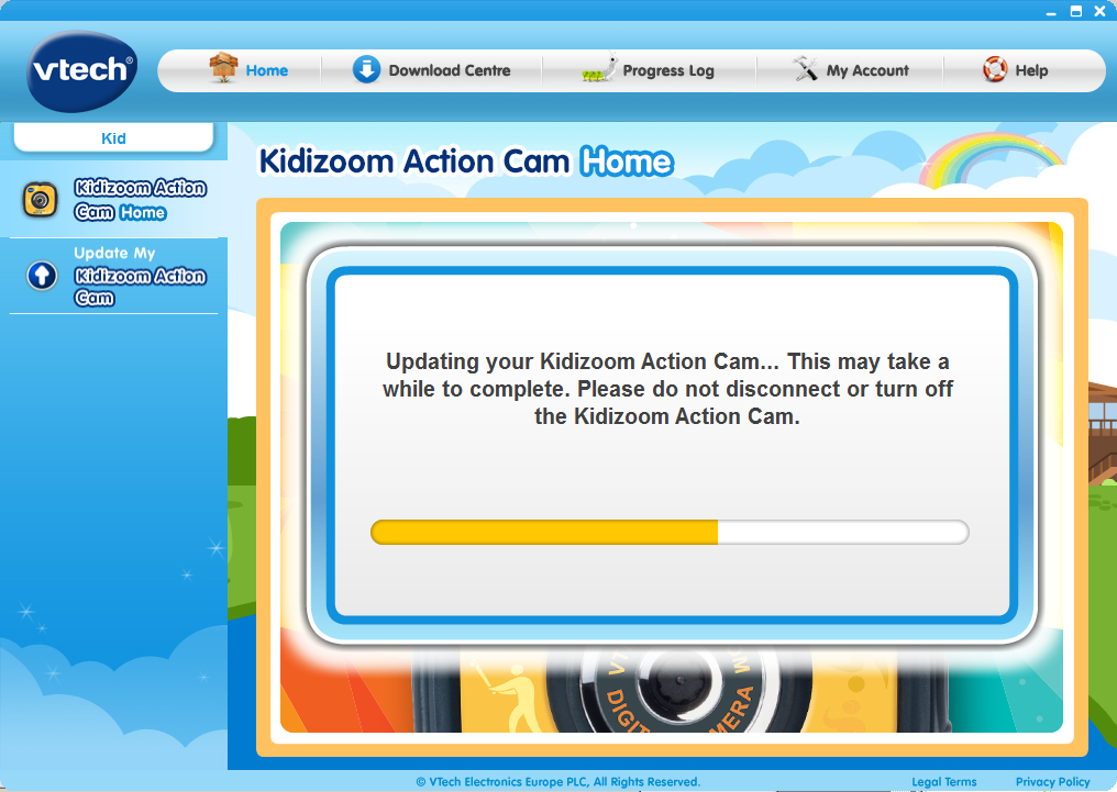 Update my Kidizoom® Action Cam in process