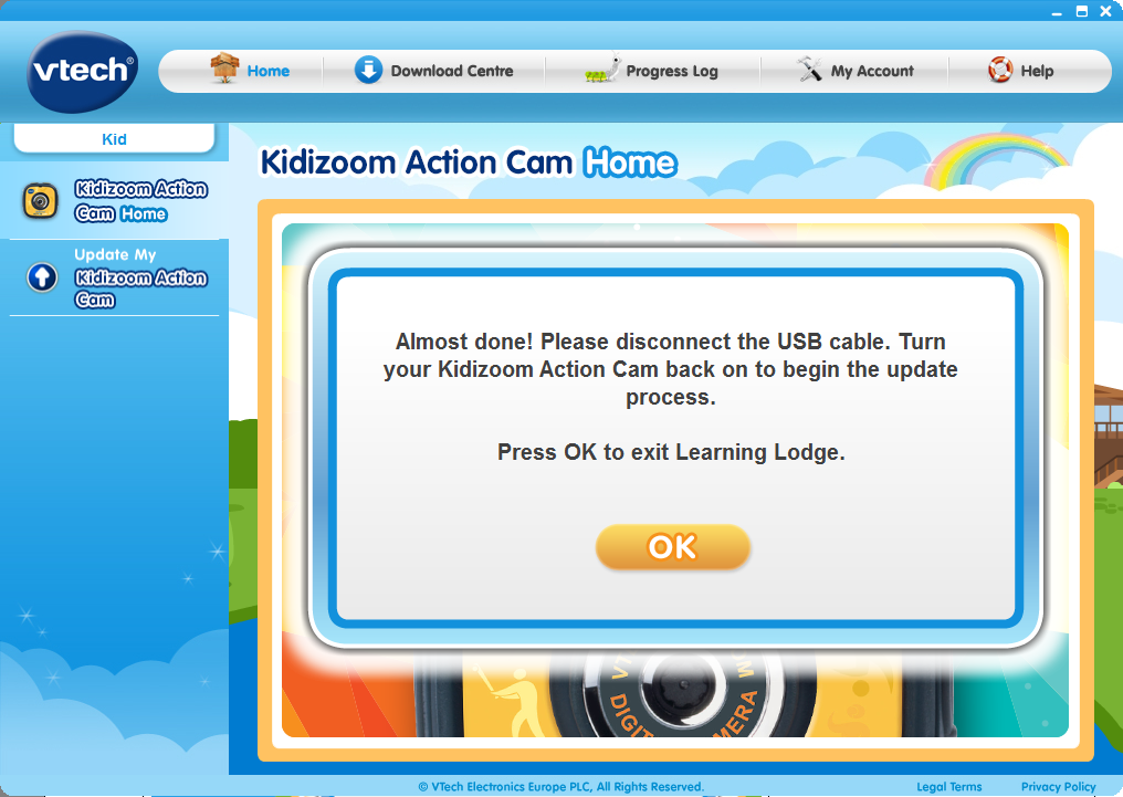 Update my Kidizoom® Action Cam completed