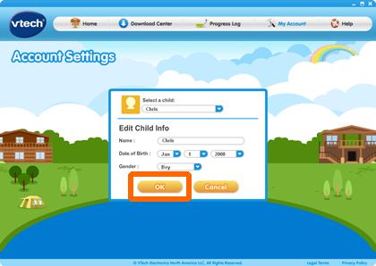 Click OK on Edit Child info dialog