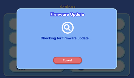 Firmware update checking dialog