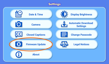 Firmware update screen capture