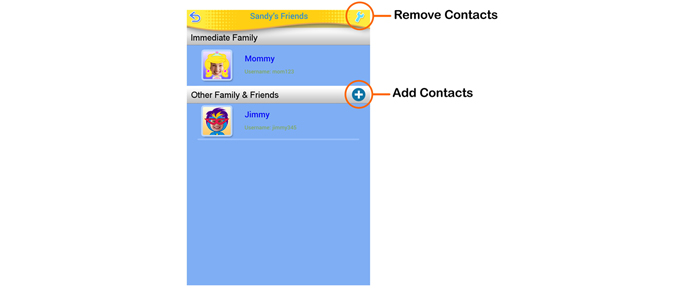 Adding or Removing Contacts For an Adult User