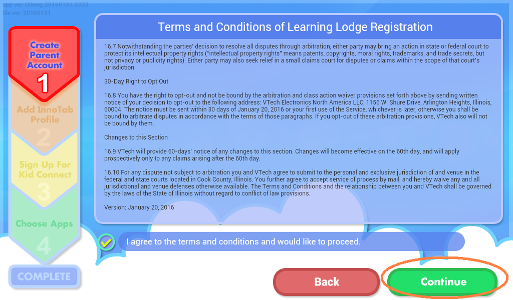 Terms and Conditions of Learning Lodge Registration Confirmation