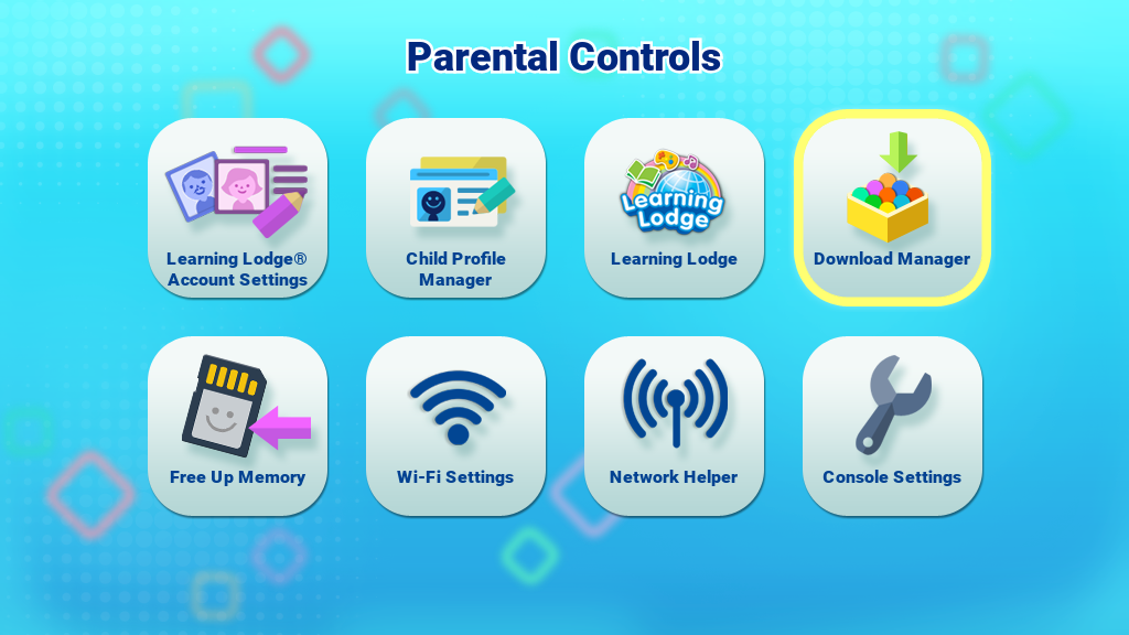 Download Manager in Parental Controls