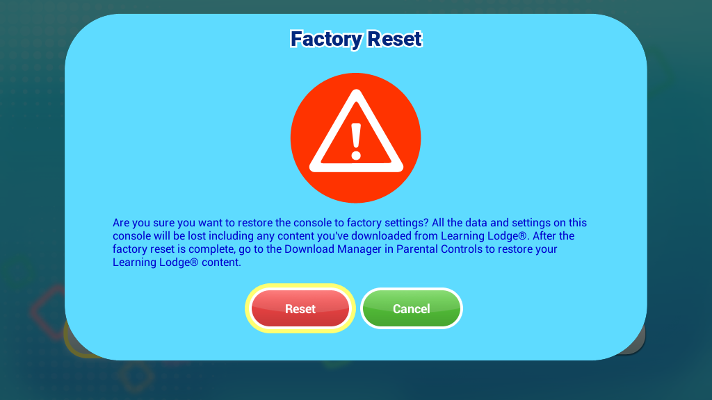 InnoTV Factory Reset