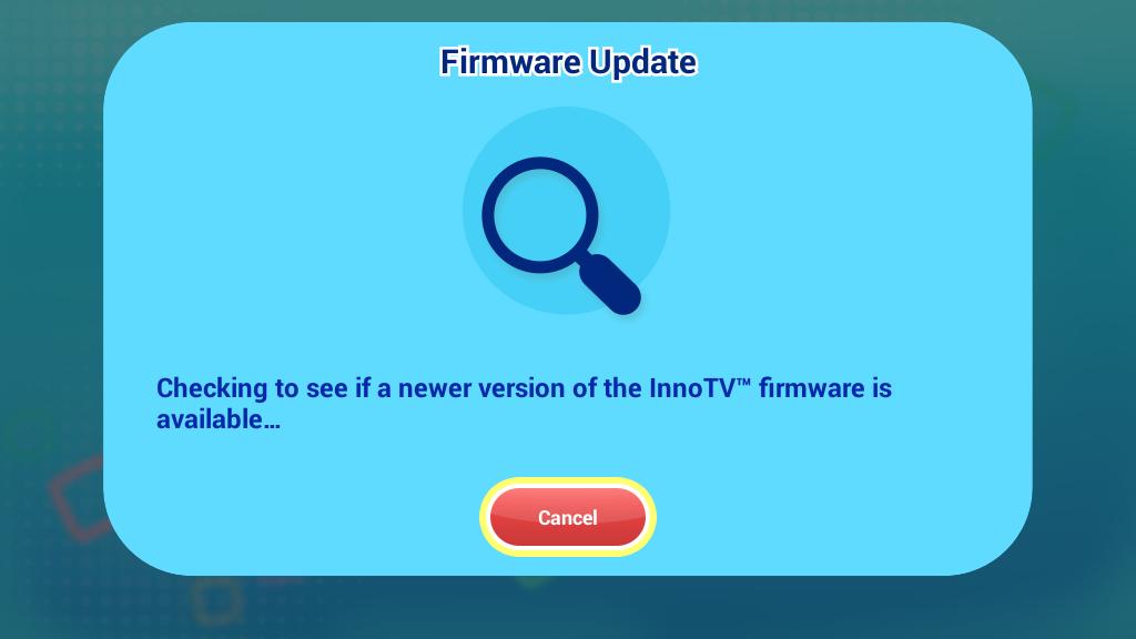 Firmware version checking screen capture