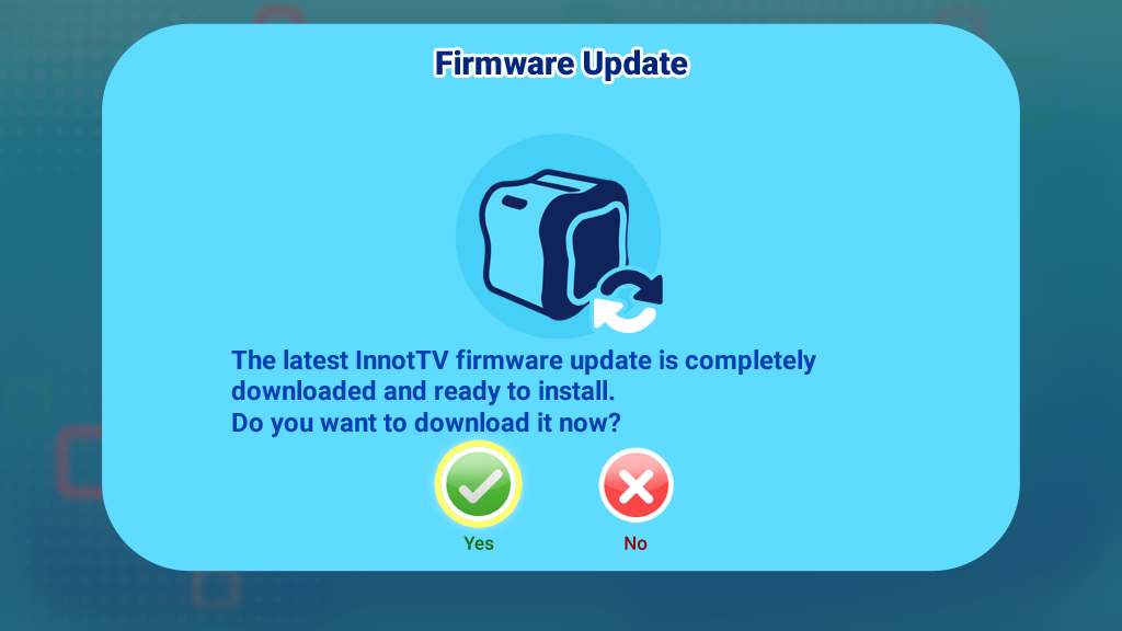 Firmware update screen capture