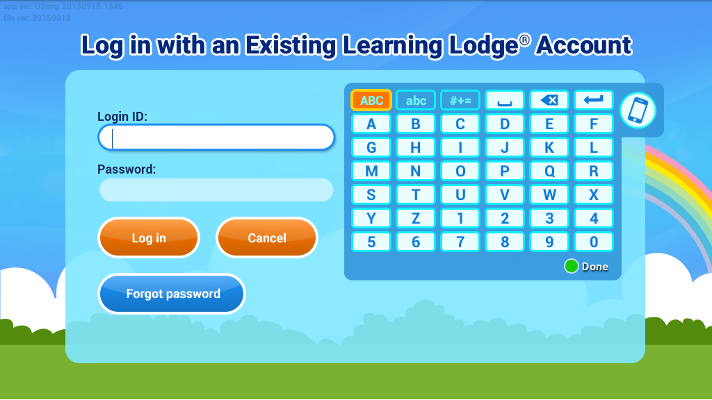 Log in with an Existing Learning Lodge® Account