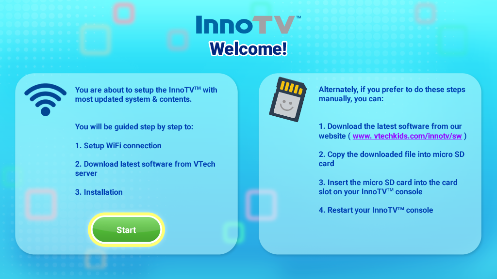 Screen capture: Update InnoTV firmware
