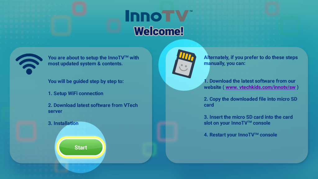 Screen capture: Update InnoTV firmware start