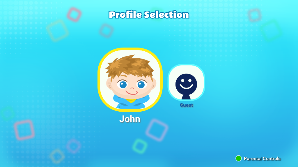 Profile Selection screen