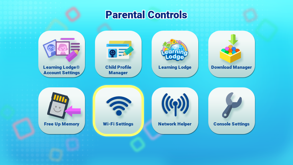 Wi-Fi Icon in Parental Controls page