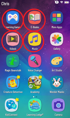 Child's Home screen