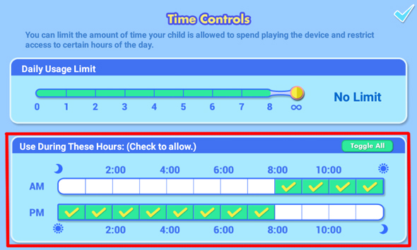 Time controls
