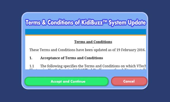Screen: System update