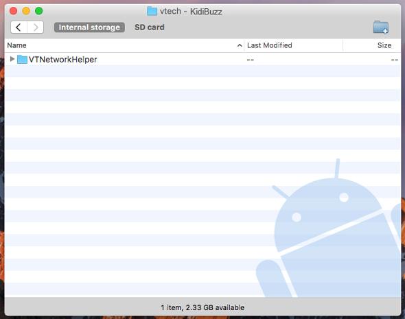 Screen: VTNetworkHelper folder