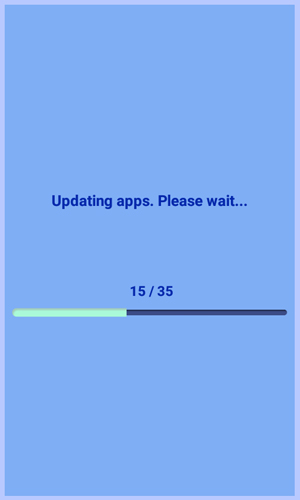 Updating apps. Please wait.