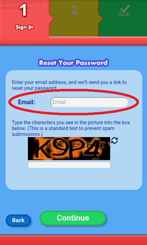 Screen: Forgot Password.