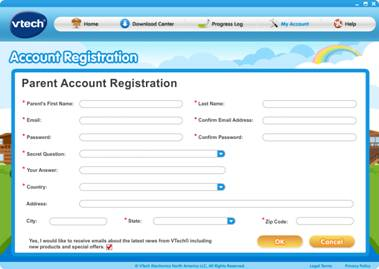 Account Registration page