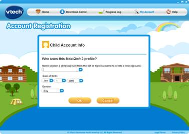 Child Account info page
