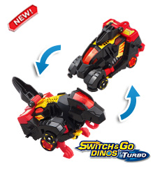 Switch & Go Dinos® Turbo - Zipp the T-Rex
