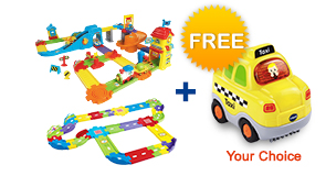 Buy Train Station Playset with Deluxe Track Set and receive 1 FREE vehicle!