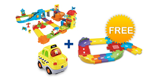 Buy Train Station Playset with vehicle and receive FREE Junior Track Set