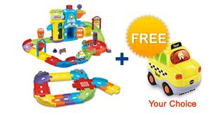 Buy Police Station Playset with Junior Track Set and receive 1 FREE vehicle!