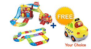 Buy Fire Command Rescue Center with Deluxe Track set and receive 1 FREE vehicle