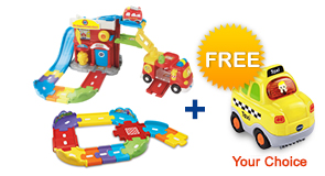 Buy Fire Command Rescue Center with Junior Track Set and receive 1 FREE vehicle!