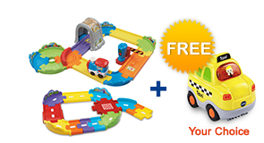 Buy Choo-Choo Train Playset with Junior Track Set and receive FREE vehicle