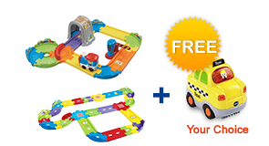 Buy Choo-Choo Train Playset with Deluxe Track set and receive 1 FREE vehicle