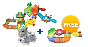 Buy Zoo Explorers Playset + animal and receive free Junior Track Set