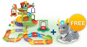 Buy Tree House Hideaway Playset with Deluxe Track set and receive 1 FREE animal