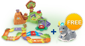 Buy Forest Adventure Playset with Deluxe Track set and receive 1 FREE animal