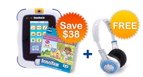 Buy InnoTab 3 Plus Bundle and receive VTech Headphone for FREE!