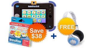 Buy InnoTab 3S Plus with 2 Learning Software and receive a FREE Headphone
