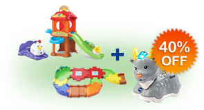Buy Chicken Coop Playset and Receive 40% off Junior Track Set and Animal