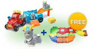 Buy Farm & Learn Animal Wagon with Animal and receive 1 FREE Junior Track Set