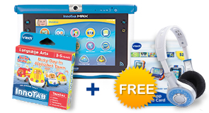 Buy InnoTab MAX with 2 Learning Software and receive your choice of accessory for FREE!