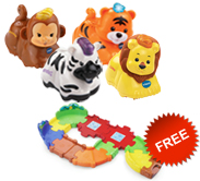 Buy 4 Go! Go! Smart Animals and receive 1 FREE Junior Track Set