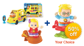 Buy Learning Wheels School Bus with 50% off any Go! Go! Smart Friend of your choice