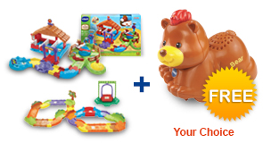 Buy Gallop & Go Stable with Deluxe Track set and receive 1 FREE animal