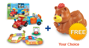 Buy Farm & Learn Animal Wagon with Deluxe Track set and receive 1 FREE animal