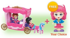 Buy a Flipsies<sup>™</sup> Grace's Garden & Carriage and a Flipsies<sup>™</sup> Doll, receive 1 extra FREE Flipsies<sup>™</sup> Doll of your choice