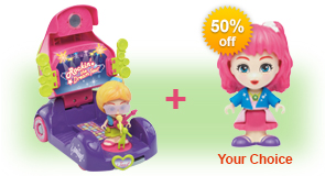 Buy Jazz's Convertible & Stage and receive 50% off Flipsies Doll of your choice