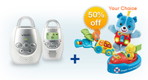 Buy Safe&Sound Digital Audio Monitor DM221 and receive 50% off Learning Toy of your choice