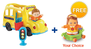 Buy the Learning Wheels School Bus and a Friend, receive a FREE Go! Go! Smart Friend of your choice